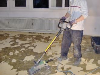 Favorit KMF-Sanierungsarbeiten Aachen - PVC Boden entfernen   Nico Sistermann FQ06